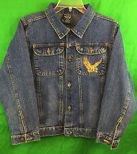 Urban Extreme Soaring Eagle Denim Jacket Size 14