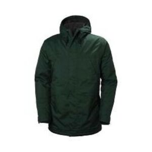 $250! NWT Helly Hansen Men's Harbour Ski Jacket Insulated Hooded Spruce Green L