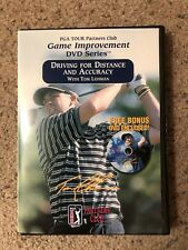 PGA TOUR PARTNERS CLUB - TOM LEHMAN - DRIVING FOR DISTANCE & ACCURACY DVD