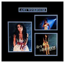 Amy Winehouse Original Autographed Photograph Double Matted and Framed