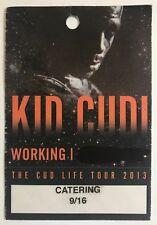 KID CUDI THE CUD LIFE TOUR 2013 WORKING Pass Sticker Badge  UBER-RARE! Red Rocks