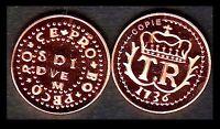 ★★ CORSE / CORSICA : RARE COPIE DE LA 2 1/2 SOLDI 1736 TH. DE NEUHOF ★★★