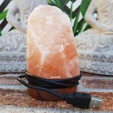 LAMPADA DI SALE HIMALAYA con cavo USB , cavo USB , 100% grezza, cromoterapia