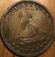 1820 UPPER CANADA COMMERCIAL CHANGE HALF PENNY TOKEN COIN