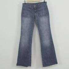 Blue 2 Jeans Distressed Edges Denim Jeans Size 25 Made In California USA