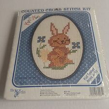 New Berlin Kit Kids Counted Cross Stitch Funny Bunny Easter Made in USA