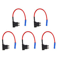 5Pcs 12V Standard Add A Circuit Fuse Tap Piggy Back Blade Holder Plug Car Sales