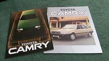1984 TOYOTA CAMRY 1.8 GL / 2.0 GLi / TURBO D - UK BROCHURE + OUTER COLOUR FOLDER