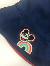 Nwt Disney X Junk Food Sun Hat Kids Mickey Mouse Patch Sunshine Navy New