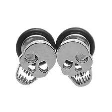 1 Pair Men's Women's Punk Gothic Stainless Steel Amazing Skull Ear Studs Earring