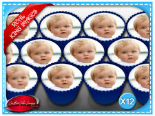 12 Custom Photo / Image Edible Icing Image Cupcake Cake Birthday Party Toppers