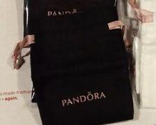 Pandora Brand New Bracelet Charm Jewelry Black Anti Tarnish Drawstring Pouch