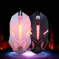 1600 DPI  USB Wired Gaming Mouse Mice For Laptop Desktop PC