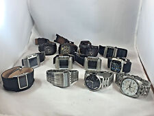 Wholesale Lot Men's Diesel Leather/Stainless Bracelet Digital/Analog(12 watches)