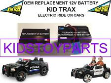 KID TRAX OEM REPLACEMENT BATTERY DODGE CHARGER SWAT POLICE CAR RIDE ON CAR