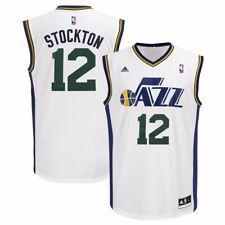 John Stockton Utah Jazz NBA Adidas Men's White Replica Jersey