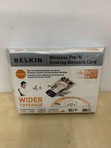 BELKIN Wireless Pre-N Notebook Network Card 802.11g 2.4GHz New Boxed