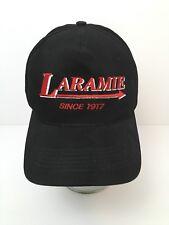Laramie Detroit MI Snapback Hat Black Cotton Cap Arrow Logo USA Made