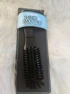 "Conair 100% Boar Bristle Hair Brush Shines and Smoothes Black 8""+ Free Shipping"