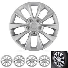 "16"" Set of 4 Silver Wheel Covers Snap-On Hub Caps fit R16 Tire & Rims"
