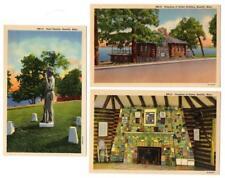 5111* Minn BEMIDJI Fireplace of States~ Building~Chief 1938 UNUSED Postcards (3)