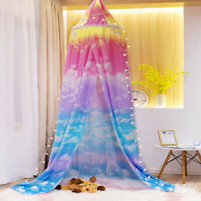 Princess Bed Canopy Play Tent for Kids Girls Cloud Sky Mosquito Net House Castle