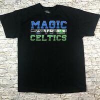 Orlando Magic vs Celtics Large Black Short Sleeve Shirt Basketball NBA