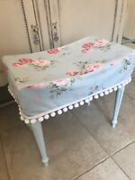 Cath Kidston Shabby Chic Dressing Table Stool In Duck Egg Blue