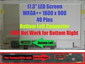 "HP PAVILION DV7-6163US LAPTOP LED LCD Screen 17.3"" WXGA++ Bottom Left"