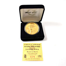 Highland Mint Mark McGwire/Sammy Sosa Back to Back Gold Coin # out of 1,998
