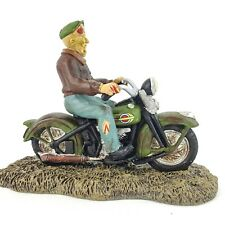 Dept 56 Halloween Village Harley Davidson Ghost Rider on the Road 4044886 New