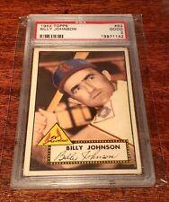 1952 TOPPS #83 BILLY JOHNSON PSA 2 GOOD ST. LOUIS CARDINALS!