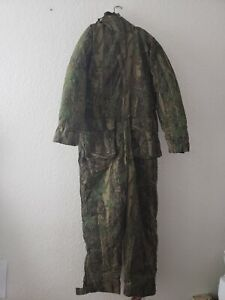 Cabelas Goose Down Camo Hunting One Piece Suit Overall Bib Men's XL Tall