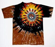 Grateful Dead Shirt T Shirt Vintage 1990 Native American Birds Art Tie Dye BK! L