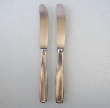 """2 Germany 8 3/8"""" LINE Dinner Knives WMF CROMARGAN Stainless Steel 1960s logo"""