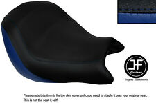 Royal blue & Negro Personalizado de vinilo cabe Honda VTX 1800 02-04 frente cubierta de asiento solamente