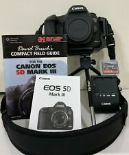Canon EOS 5D Mark III Strap, BL-5DIII, Battery Charger, Field Guide, Low Shutter