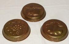 3 vecchio Stampo pasta di rame Formina da forno Forma dello strato Scodella
