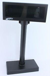 Black Digipos WD-202E (B) Vers.1.40 Customer Display With Both Long & Short Pole