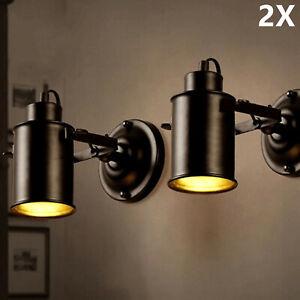 Retro Vintage Wandspot Wandleuchte Wand Lampe Leuchte Loft E27 Industrie Licht