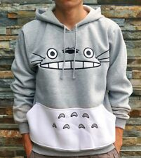 Anime My Neighbor Totoro Hoodie Cute Totoro Hoody Coat Sweater Grey Unisex S-XL