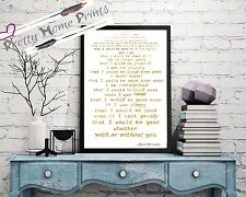 "Gold Foil ""that I would be good"" song lyrics Alanis Morrisette print"