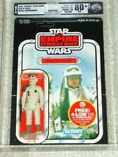 Vintage Star Wars 1982 Kenner AFA 80+ REBEL COMMANDER ESB 47 BACK CARD MOC UNP!