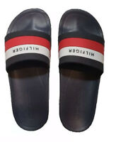 NEW TOMMY HILFIGER Men's Slides Sandals Flip Flops Logo Size 10 Shoes Flag