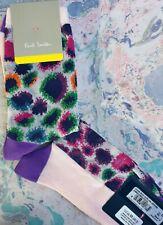 Paul Smith Women Italian Socks Carolina Leopard Sheer Purple Pink K515 One Size