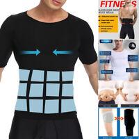 Men's Seamless Slimming Body Shaper Vest Abdomen T-Shirt Compression Sport Tops