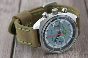 Handmade Leather watch strap for Poljot Shturmanskie 3133 18mm and other watch