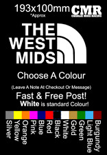 The West Mids Sticker Decal vinyl the north face west midlands Car van funny