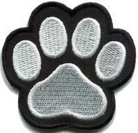 Cat paw print animal white black diy embroidered applique iron-on patch S-1616