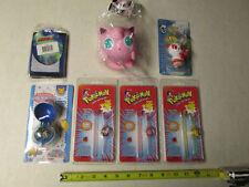 Anime Lot Jiggly Puff 3 Ring Watches Pocket Monster Mecha Bell Gundam Wallet MIP